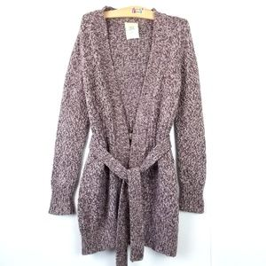 Old Navy {Open Front Tie Knit Sweater Cardigan} M
